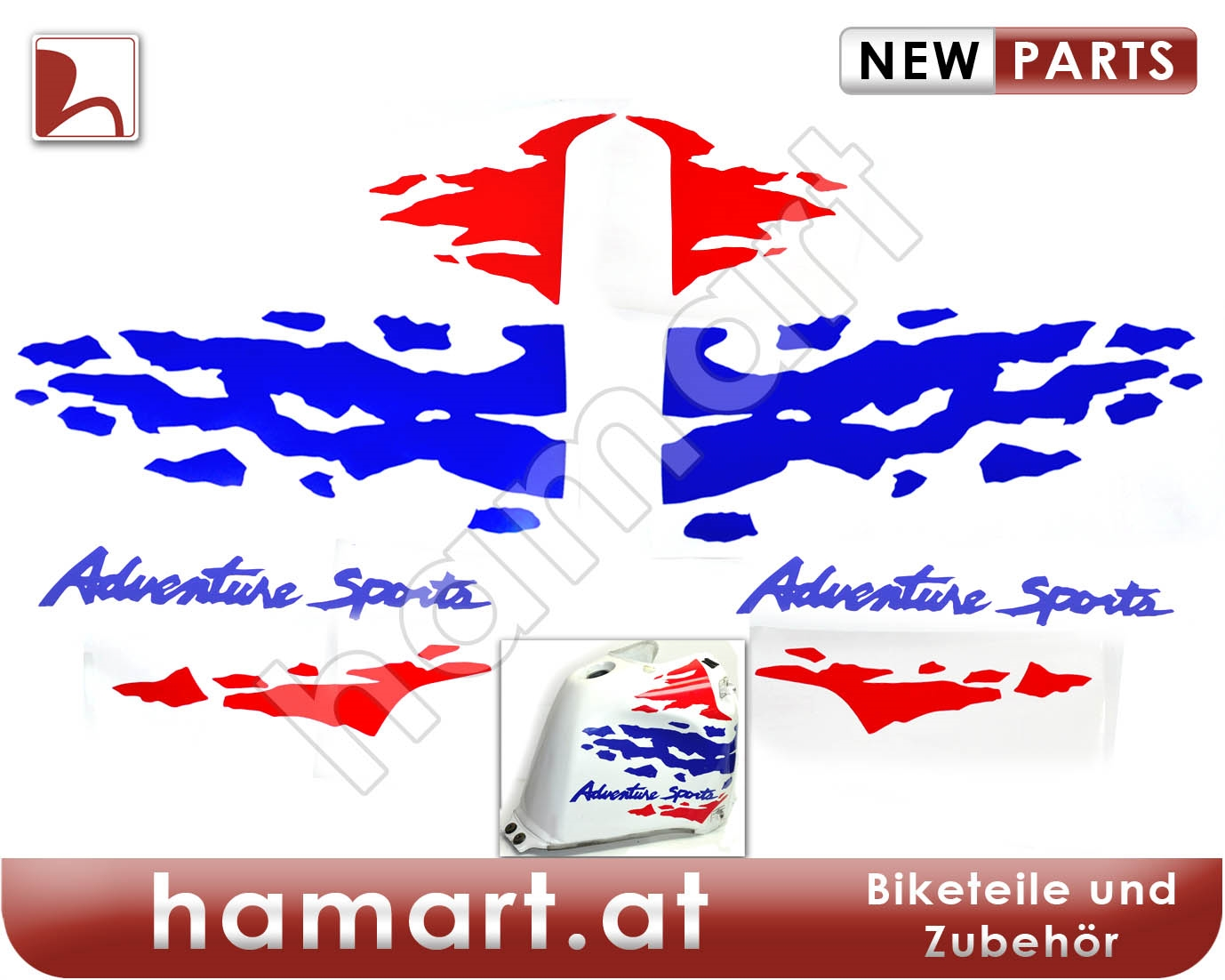 hamart   sticker set tank honda xrv 750 rd07 africa twin