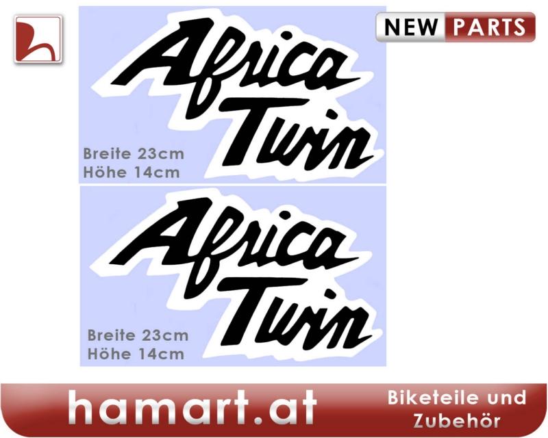 hamart aufkleber set africa twin gro schwarz auf wei. Black Bedroom Furniture Sets. Home Design Ideas